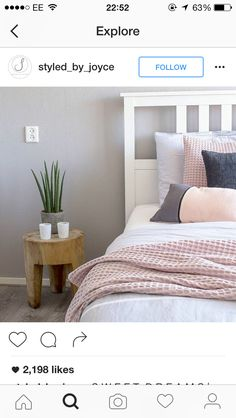 Blush and white beds