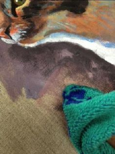 how to paint a cat in acrylics step 6