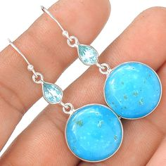 Smithsonite 925 Sterling Silver Earring Jewelry EE11610