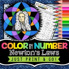 Speed, Velocity, & Acceleration ColorbyNumber 8th