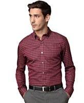 Van Heusen Long-Sleeve Habedashery Twill Small Plaid Shirt