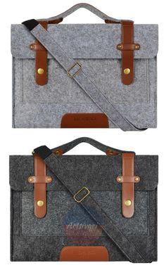 """For Laptop Notebook MacBook 11/"""" 13/"""" 15/"""" Woolen Envelop Hand Bag Sleeve Case LA"""