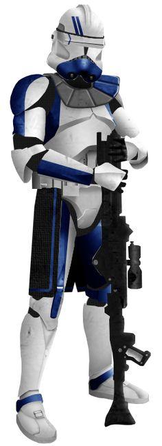 Commander Sterk, based on the clone marines with green markings. Equipment: Helmet: unkown Torso: sash kama: split.