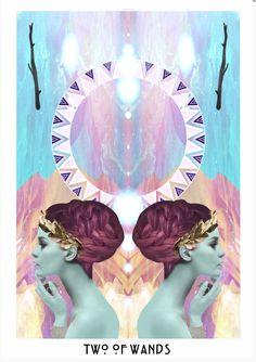 Two of Wands The Starchild Tarot © Danielle Noel