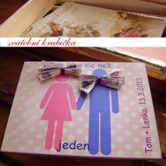 svatební dar,krabička, jak vtipně darovat peníze ke svatbě