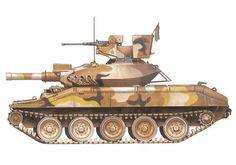 M551 Sheridan perteneciente al 116º Regimiento caballería Acorazado, 1er. Escuadrón, Guardia Nacional de Idaho, 1972. Military Post, Military Weapons, Military History, Sheridan Tank, War Thunder, Armored Fighting Vehicle, World Of Tanks, Armored Vehicles, Cold War