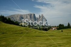 Mt. Sciliar from Siusi Highland Royalty Free Stock Photo