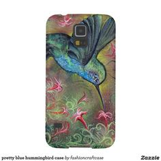 pretty blue hummingbird case