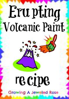 Erupting volcanic paint- so easy to make and SO FUN!!!