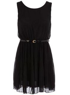 Black pleated dress - Dresses - Clothing - Dorothy Perkins United States