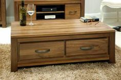 Its an exclusive range which add traditional style to your interior. For more visit http://solidwoodfurniture.co/product-details-pine-furnitures-2980-mayan-walnut-low-four-drawer-coffee-table.html