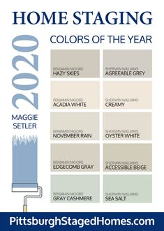 2020 paint color trends The BEST colors for SELLING your home in - Pittsburgh Staged Homes % Best Paint Colors, Interior Paint Colors, Paint Colors For Home, Best Greige Paint Color, Magnolia Paint Colors, Best Bedroom Colors, Paints For Home, Paint Colors For Kitchens, Colors For Bathrooms