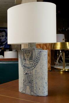 Roger Capron; Glazed Ceramic Table Lamp, c1960.