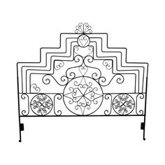 Ornate Scrolled Wrought Iron King Size Headboard. WOW! and get 30% off on your first order by signing up to our VIP mailing list today only! http://www.ancienteyebohemianarts.com   Shop Now!