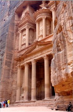 The Treasury at Petra. http://solotravelerblog.com/solo-travel-2011-manmade-wonders/