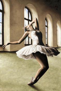 Title: Halcyon Ballerina - Elana Lewis / Created by: Richard Young  (2011) / Painting: Oil on stretched canvas