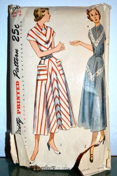 1940s Vintage Simplicity Pattern 2807 Misses by TabbysVintageShop, $14.00