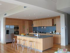 kitchens with timber floors - Google Search