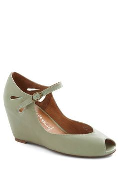 Hello Darling Wedge in Pistachio, #ModCloth-- i have them in blue, may need them in pistachio too!! what a gentle color!