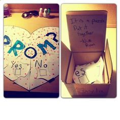 Cute ways to ask someone to prom, to get engaged, to a date, to become boyfriend or girlfriend or can be used to ask or confess anything. Great way to Come Out.