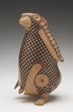 Rabbit Effigy by Nicholas Ortiz Estrada.(Passionate Journey: The Grice Collection of Native American Art Exhibition on view at the Mint Museum of Art) Native American Pottery, Native American Art, Rabbit Sculpture, Sculpture Art, Ceramic Animals, Ceramic Art, Pottery Animals, Arte Haida, Bunny Art