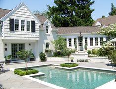 Pool Decks, Backyard Pools, Backyard Ideas, Pool Porch, Patio, White Brick Houses, Florida Pool, Pool Coping, Custom Pools