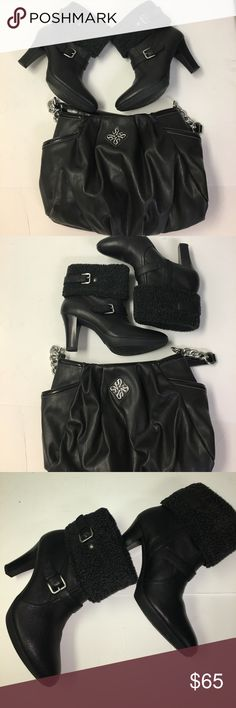"""Attractive Anne Klein Leather Bootie """"Akandre"""" 8.5 What a Beautiful Boot! This pre-owned is just like new! Black Leather 3.5"""" Heel. Anne Klein Shoes Ankle Boots & Booties"""