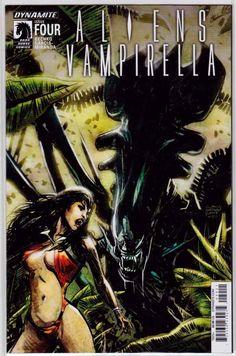 Aliens Vampirella #4 Regular Gabriel Hardman Cover (2015) Dynamite Entertainment. Javier Garcia-Miranda.