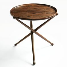 Peder Moos; Rosewood, Ebony and Brass Side Table, 1950s.