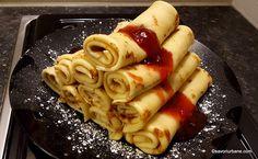 Clătite pufoase și fragede - cea mai simplă rețetă care nu dă greș. Secretele clătitelor perfecte care se întorc ușor în tigaie și nu se rup. Romanian Food, Xmas Cookies, No Cook Desserts, Home Food, Desert Recipes, Cakes And More, I Foods, Puddings, Deserts