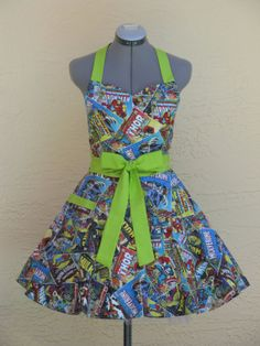 Sweetheart Hostess Apron  Marvel Comics with a by ApronsByVittoria, $36.00
