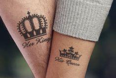Crown tattoos on arm