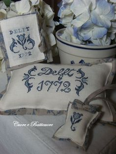 Delft cross stitch pattern
