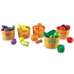 Learning Resources Farmers Market Color Sorting Set, Play Food, Fruits and Vegetables Toy, 25 Piece Set, Ages 3 -- Want to know more, click on the image. (This is an affiliate link)