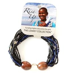 """""""Such a beautiful bracelet. I gave one as a gift and kept one for myself. I am so happy to have contributed to the cause of helping women in Kenya. I have many pieces from the Leakey Collection and treasure them all."""" - Rebecca W. African Artists, Unique Gifts, Handmade Gifts, African Jewelry, Strand Bracelet, Modern Jewelry, Kenya, Size 2, Jewelry Design"""