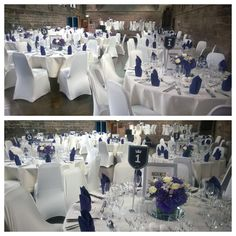 A simple but elegant white and blue themed wedding