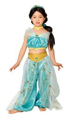 Amazon | ディズニー アラジン ジャスミン キッズコスチューム 女の子 100cm-120cm 95089S | ジョーク・どっきり 通販