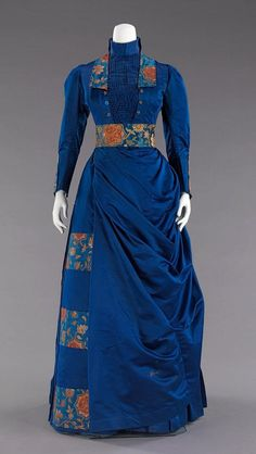 1885-1888, America  Silk afternoon ensemble  MET Museum