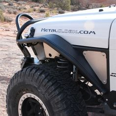 "BITCHIN FENDER FLARE! Metal Cloak 6"" Arched Front Flare, TJ"