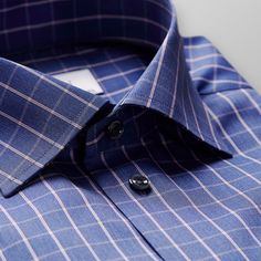 Elevate your casual wear with this bold check shirt. Our unique non-iron finish combined with the fine twill fabric makes this shirt impeccably easy to care. Wear it under a fine knit sweater or unbuttoned under an unconstructed sport coat for a relaxed, Best Dress Shirts, Cool Shirts, Formal Shirts, Casual Shirts For Men, Man Dress Design, Gents Shirts, Business Outfit, Business Casual, Twill Shirt