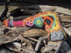 Pistole free form crochet