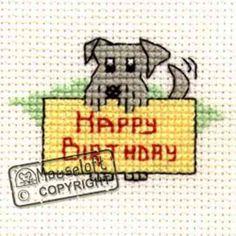 Special Occasions Cross Stitch Kit - Happy Birthday Dog