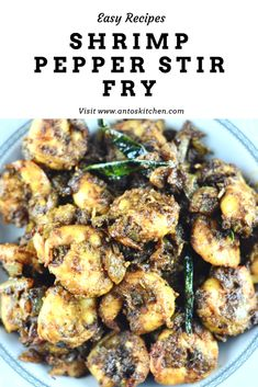Shrimp pepper stir fry is a spicy and flavorful dish that goes well with rice and chapati. It is simple to make in just a few mins. Indian Shrimp Recipes, Fried Fish Recipes, Shrimp Recipes Easy, Seafood Recipes, Indian Food Recipes, Vegetarian Recipes, Cooking Recipes, Easy Recipes, Side Dishes For Fish