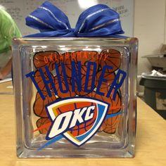 OKC Thunder Glass Block