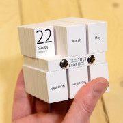 Ausgefallene Ideen für Kalender: Ein Kalender, der jeden Tag seine Form ändert.