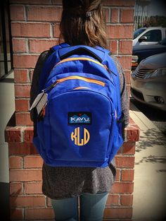 Monogrammed Kavu Backpack  Royal Gold by DesignsbyDaffy on Etsy