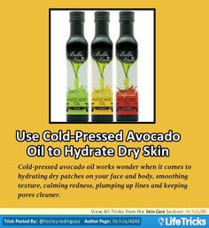 Skin Care - Use Cold-Pressed Avocado Oil to Hydrate Dry Skin
