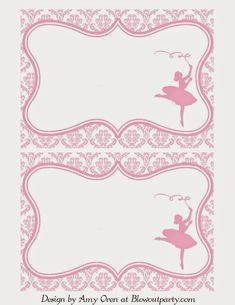 Title Slide of Ballerina party-free-printable-invitation Barbie Birthday Invitations, Birthday Invitation Templates, Invitation Wording, Invites, Ballerina Baby Showers, Ballerina Birthday Parties, Free Printable Invitations, Printable Party, Paper Flowers