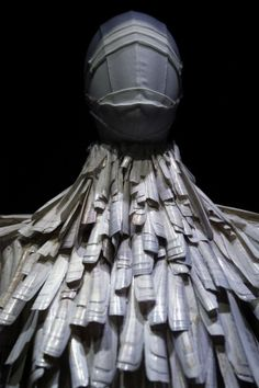 Razor clam shell dress from the Voss spring/summer 2001 Alexander McQueen collection