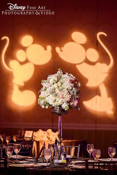 the cutest ideas for Disney wedding reception